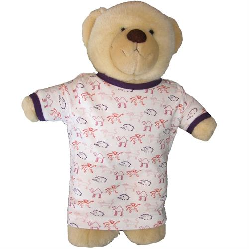 IdaT Build a bear / dukke kjole multiprint lilla