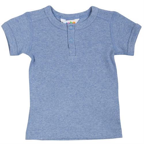 31ce0a2eceb JOHA bluse kort økologisk rib blå, str. 70, 80