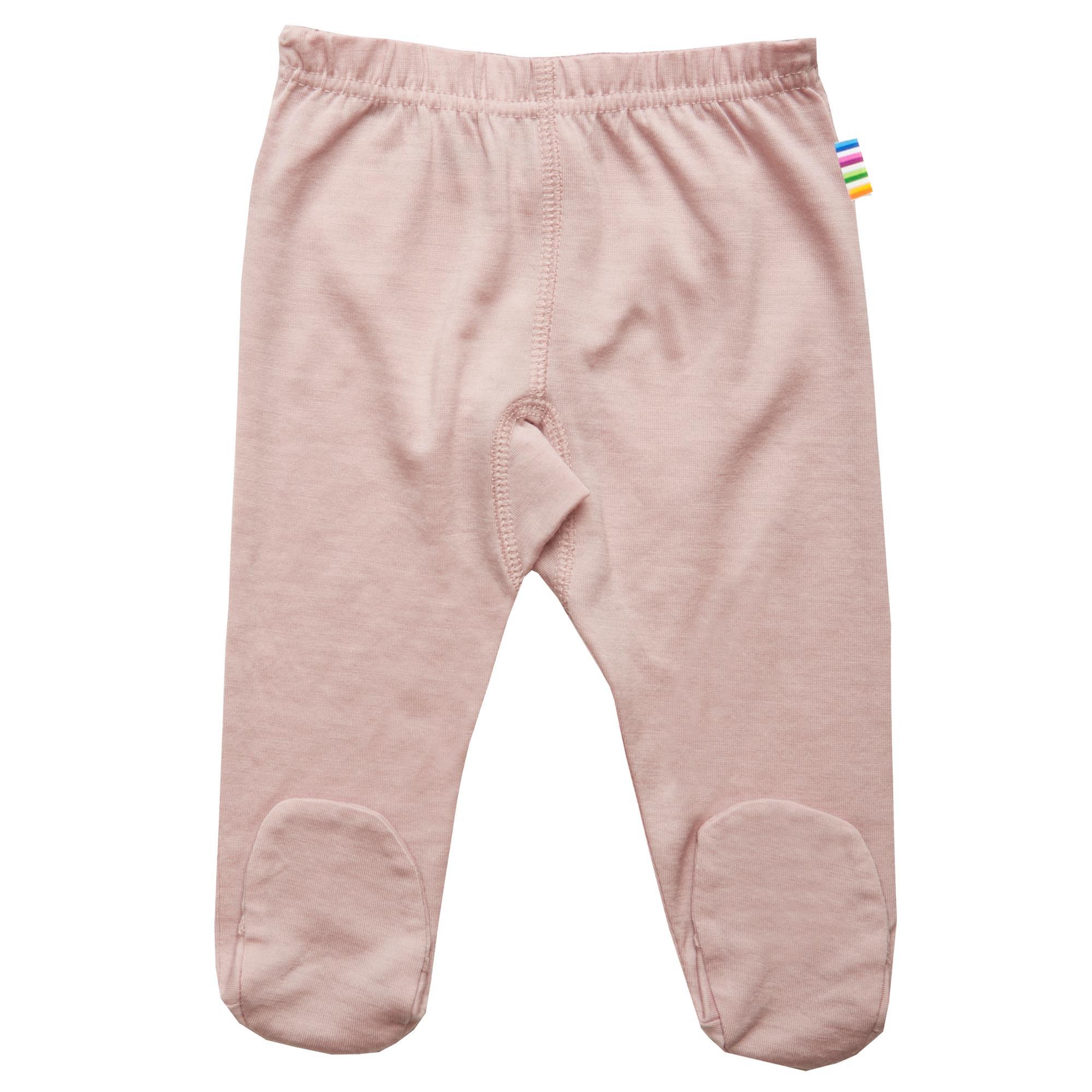 JOHA bukser med fødder uld støvet rosa, str. 40