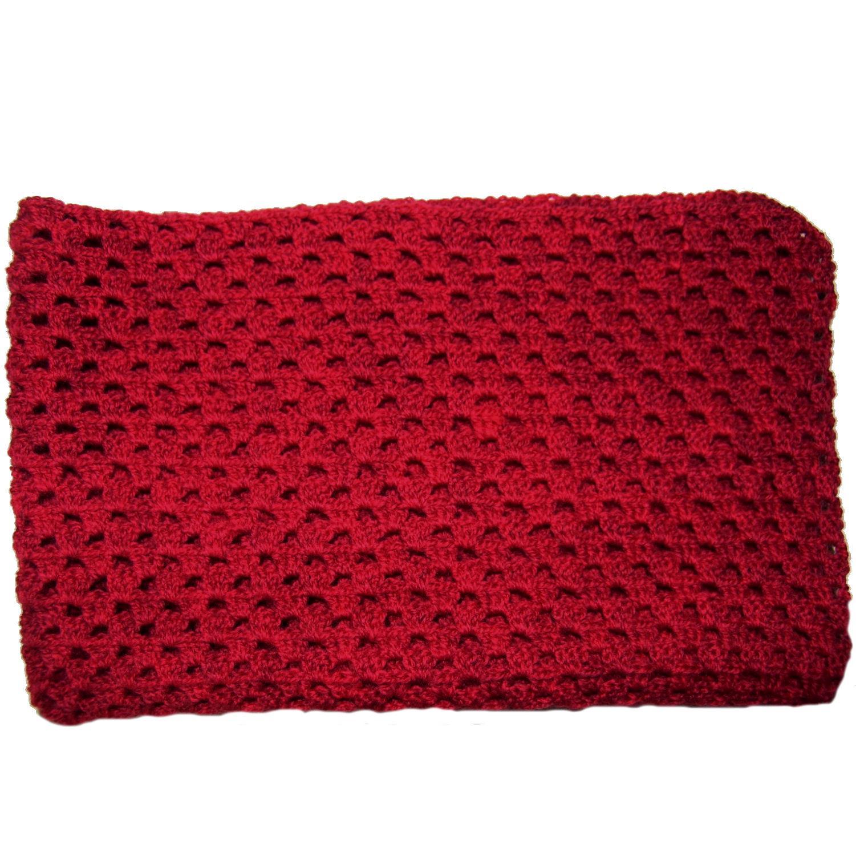 596d9cc7d3e LT-design præmatur tæppe / svøb økologisk uld rød 53 x 53 cm