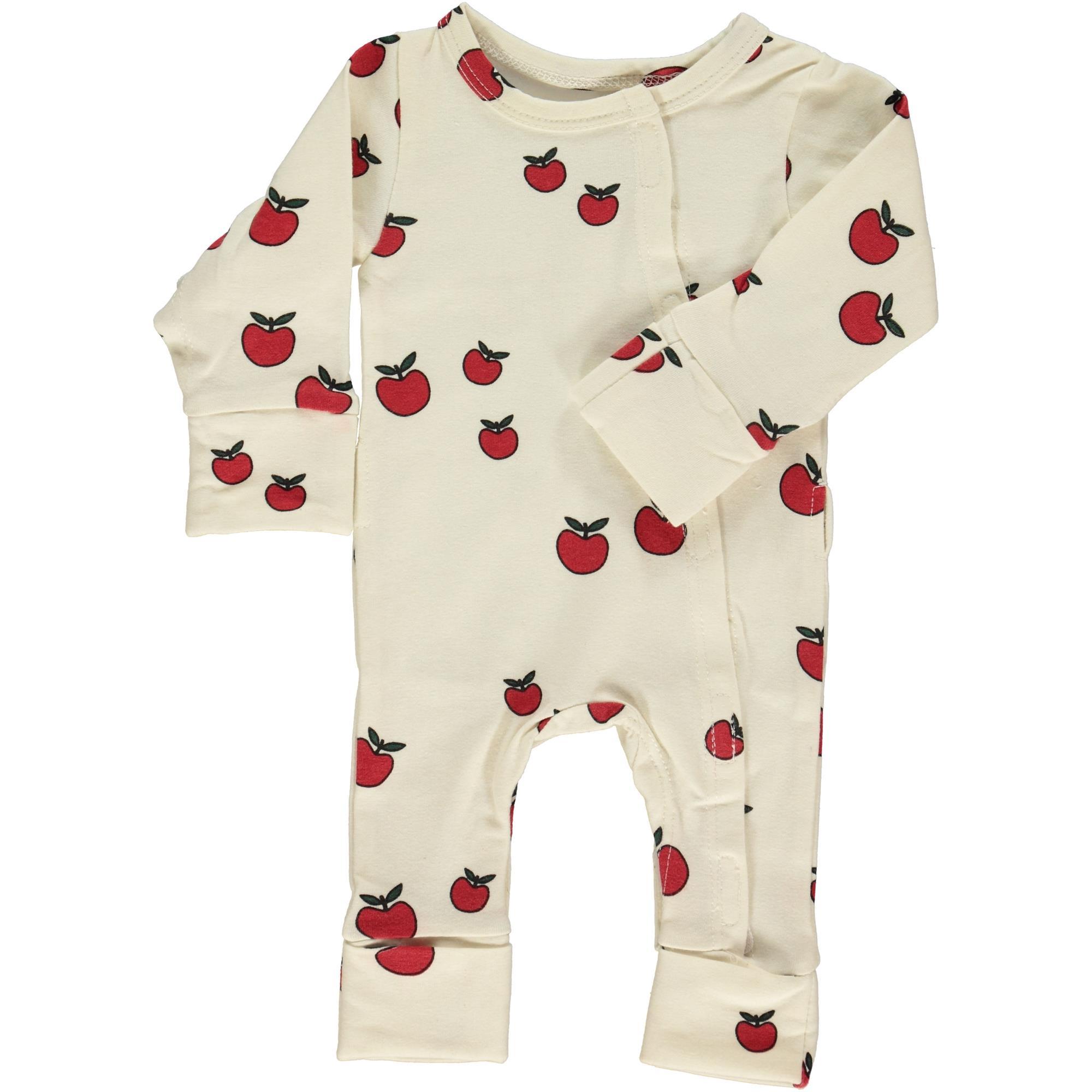 324052d7fdc Småfolk præmatur heldragt økologisk efterårs æbler rød, str. 38